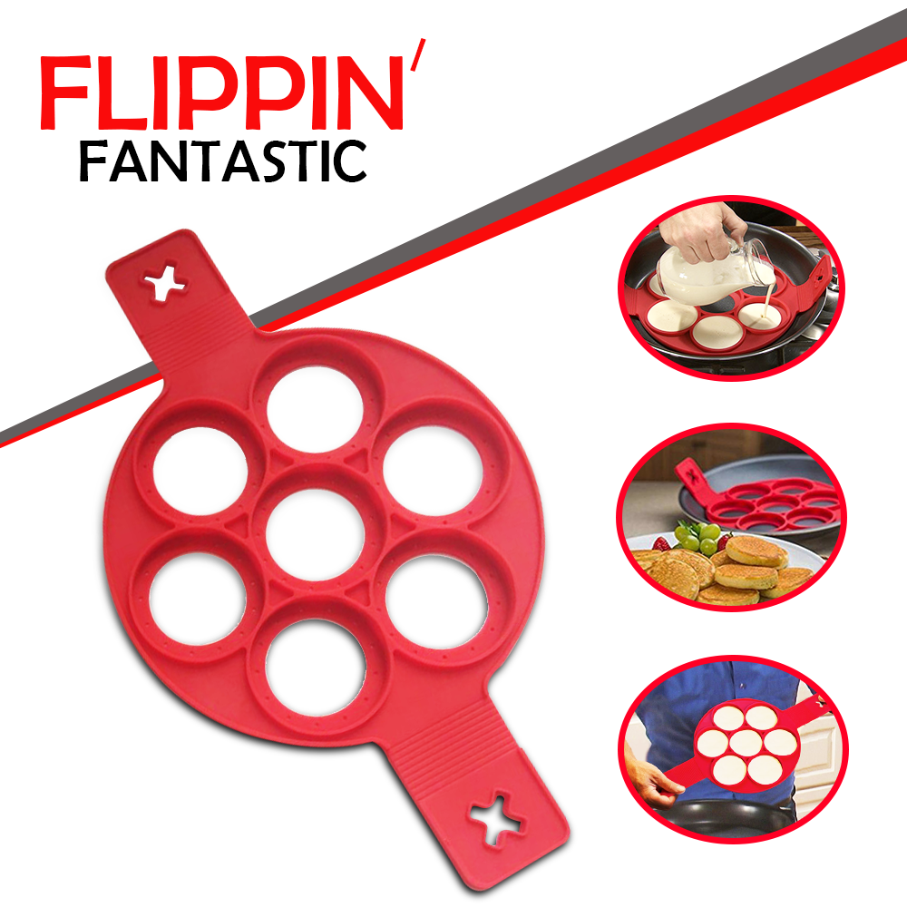 Flipping Fantastic Non Stick Silicone Mould Pan Cake Maker